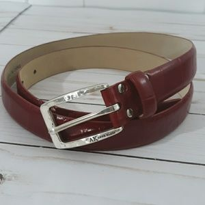 Anne Klein Red Leather Belt size Large